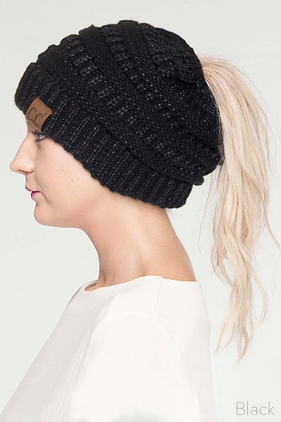 CC Beanie with ponytail opening
