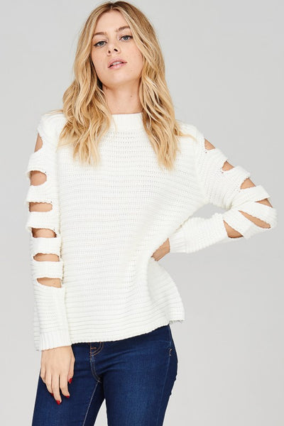 Magic Sweater with Cut out sleeve