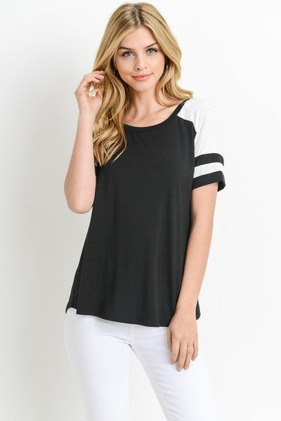 It is You Solid short sleeve top