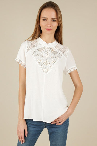 Chantilly Lace Off white top