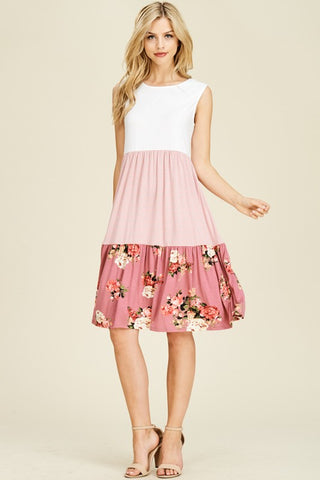 One Kiss Floral Dress in Mauve or Black