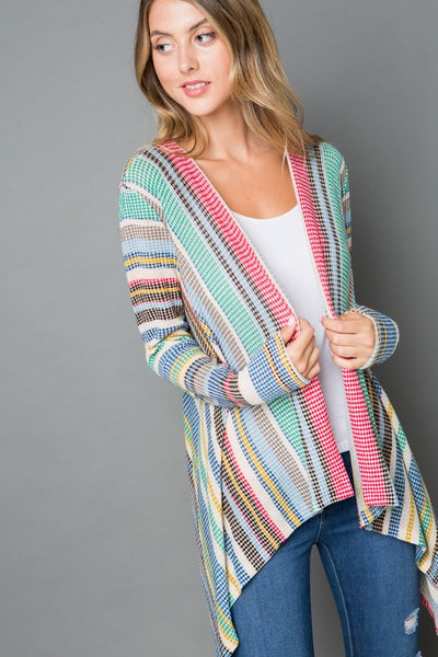 Living the Dream Pink and Turquoise Cardigan