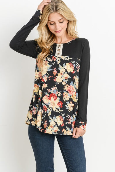 Best of Me Long Sleeve top with floral