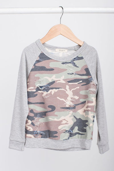 Kids Camo Top, Long Sleeve