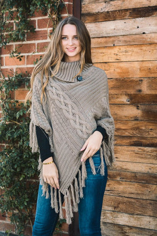 High on You Poncho with tassels