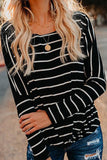 Striped wide neck top