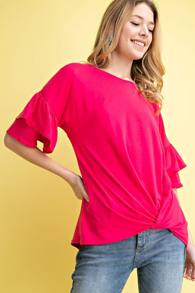 Ruffled Sleeved Top