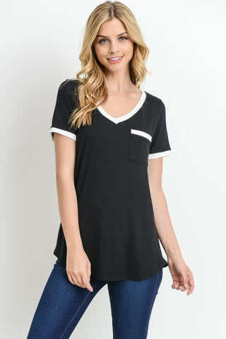 Lady Love short sleeve v-neck top