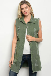 Darla Distressed vest
