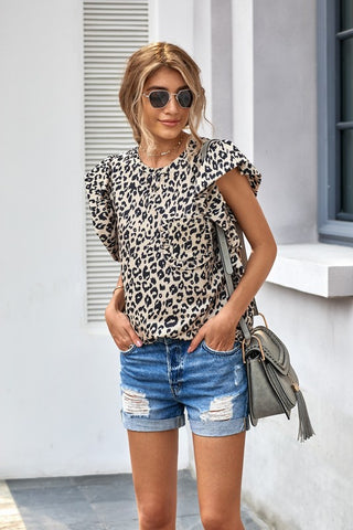 Lexie Leopard Top
