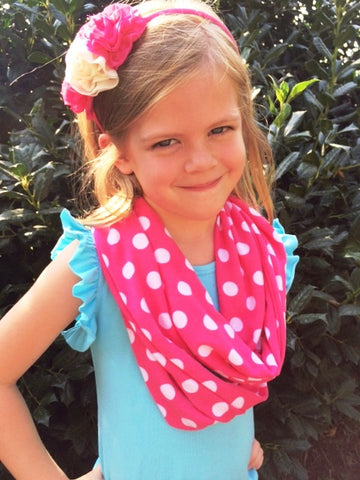Girl's Scarf with polka dots
