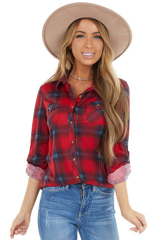 Are You Down Plaid Top ***ETA 1/21/21