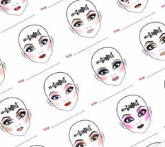 The Dolly Book - 40 Coloured Look Facecharts to practice and Inspire you