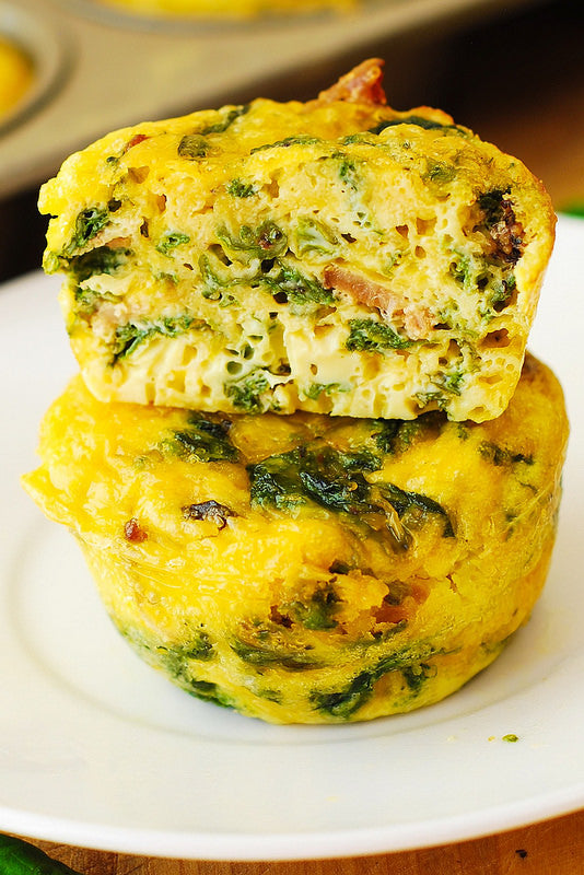 Healthy Recipe Egg Spinach Muffins