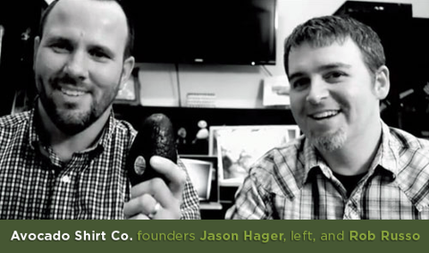 Avocado Shirt Co. founders Jason Hager and Rob Russo