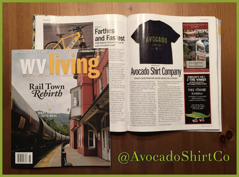 Avocado Shirt Co. featured in WV Living Magazine