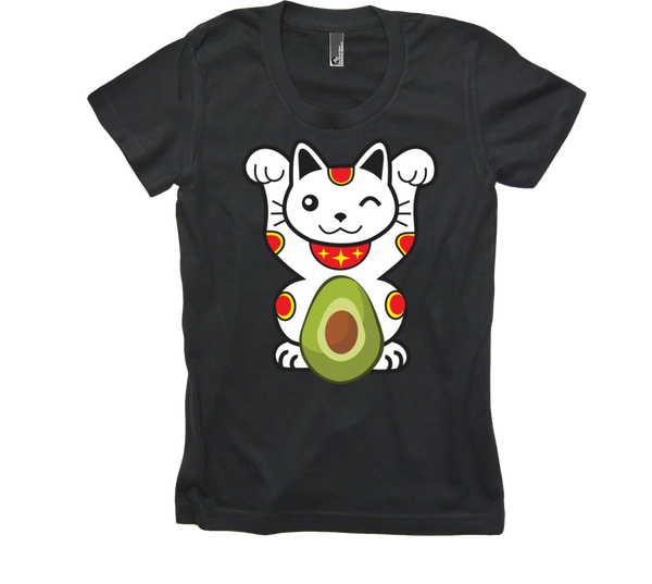 Women's Lucky Avocado Cat