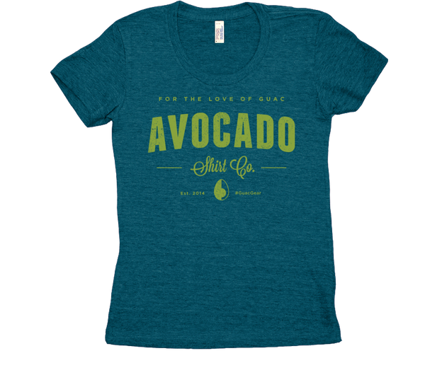 Womens Avocado Shirt Co. original logo tee