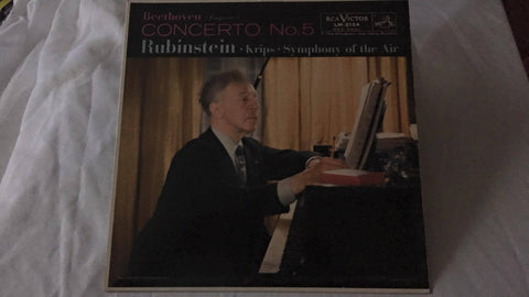 Beethoven Concerto No. 5 Rubinstein Krips Symphony of the Air LM-2124 LP - Wayne James Limited