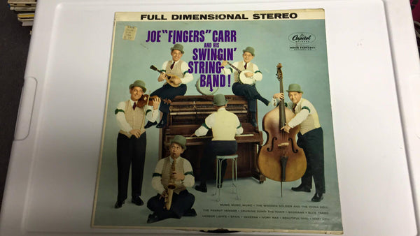"Joe ""Fingers"" Carr and his Swingin' String Band LP  ST 1217 - Wayne James Limited"