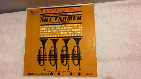 Art Farmer and His Tentet  Brass Shout  LP  UAL 4079 - Wayne James Limited