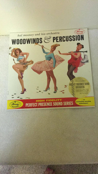 Hal Mooney and His Orchestra  Woodwinds & Percussion  LP  PPS 2013 - Wayne James Limited