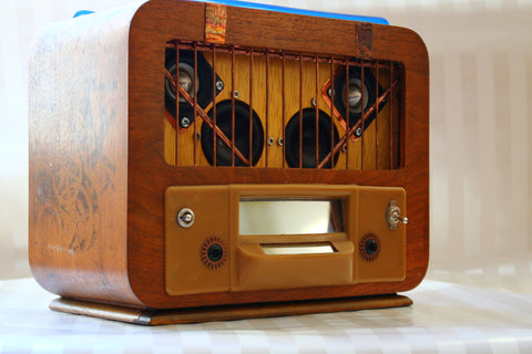 ReImagined Audio: Portable Steampunk Genuine Vintage Radio Bluetooth Speaker - Wayne James Limited - 1
