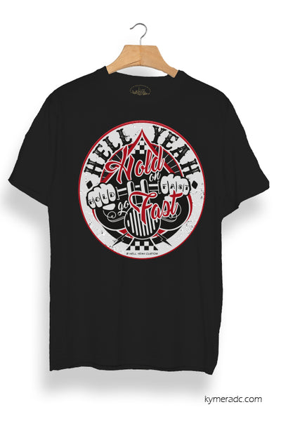 Camiseta chico negra HOLD FAST