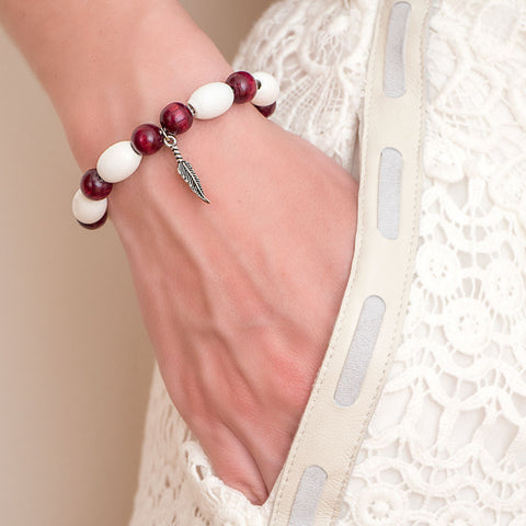 bracelet-gypsy-casual-white-burgundy