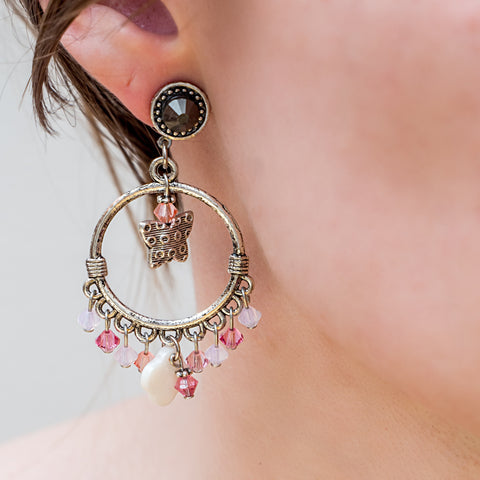 earrings-gypsy-pink-handmade