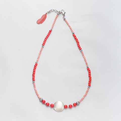 necklace-pink-red-handmade