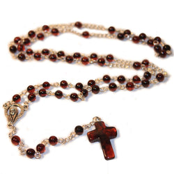 100% Natural CHERRY Baltic Amber CHRISTIAN, CATHOLIC ROSARY meditation & prayer beads -  - The Art of Cure