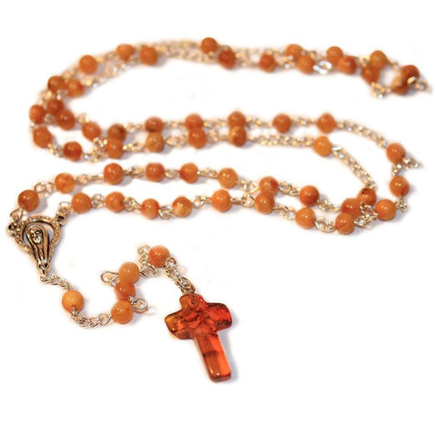 100% Natural RARE BUTTERSCOTCH Baltic Amber CHRISTIAN, CATHOLIC ROSARY meditation & prayer beads