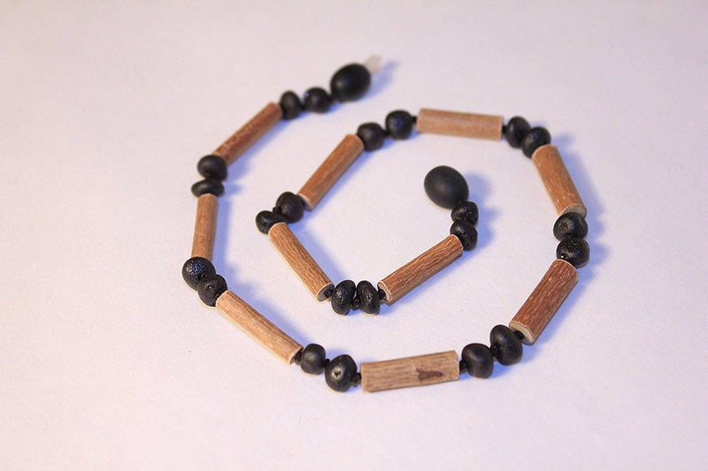 (12.5 in.) Baltic Amber & Hazelwood Teething Necklace - Unisex - CHERRY -  - The Art of Cure
