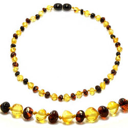 (12.5in) Certified Baltic Amber Teething Necklace for Baby - Cherry/Lemon - Anti-Inflammatory -  - The Art of Cure