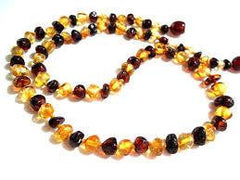 (12.5in) Certified Baltic Amber Teething Necklace For Baby - Cherry/Lemon - Anti-Inflammatory