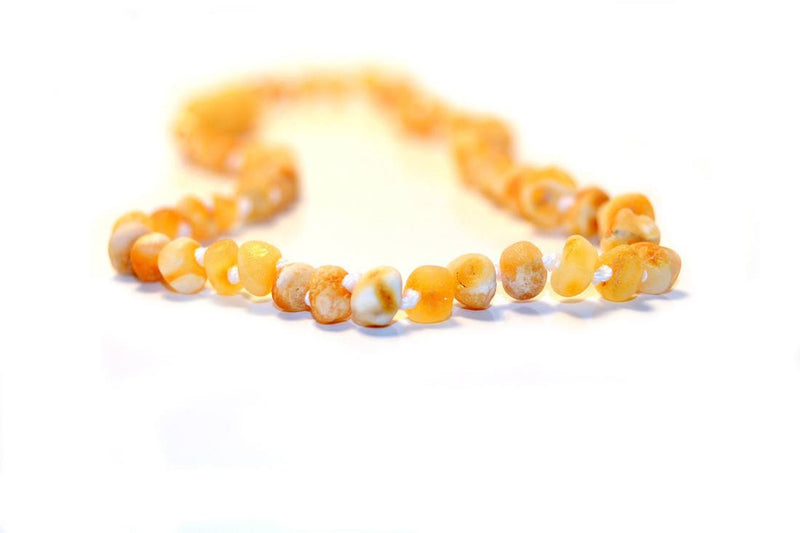 Beautiful Rare Raw Yellow/White Certified Baltic Amber Teething Necklace - LIMITED STOCK -  - The Art of Cure