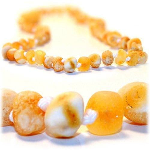 (17in) Baltic Amber Adult Necklace - FTIR Lab Tested Authentic Amber - Raw Butter -  - The Art of Cure