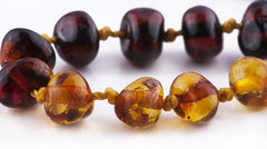 (17in) Certified Baltic Amber Necklace - Rainbow Round - Anti-Inflammatory