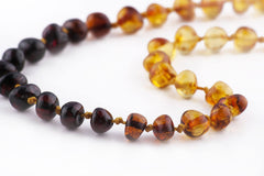 (17in) Certified Baltic Amber Necklace - Rainbow Round - Anti-Inflammatory -  - The Art of Cure