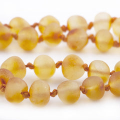(17in) The Art of Cure Baltic Amber Necklace - Raw Round Butterscotch - Anti-inflammatory -  - The Art of Cure