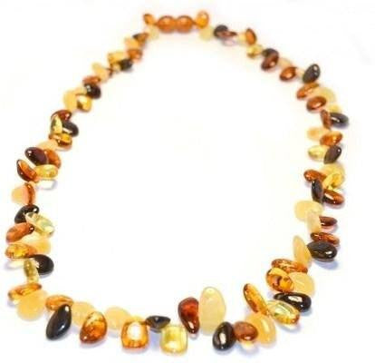 (19in) Certified Baltic Amber Necklace - Multicolored - Anti-Inflammatory