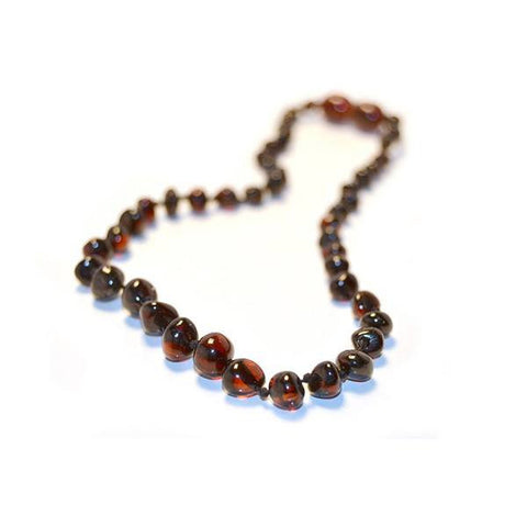 (25in) Certified Baltic Amber Adult Necklace - Cherry