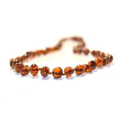 (25in) Certified Baltic Amber Adult Necklace - Honey