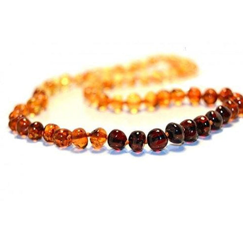 (25in) Certified Baltic Amber Adult Necklace - Rainbow