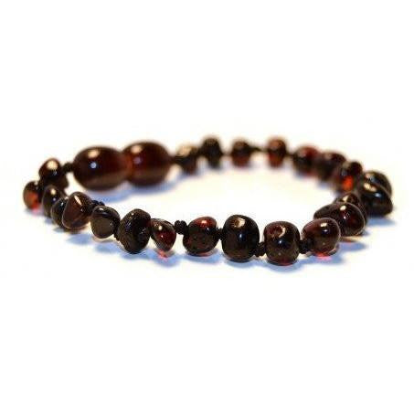 (5.5in) Certified Baltic Amber Baby Bracelet - Cherry -  - The Art of Cure