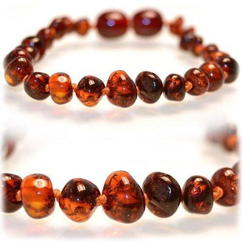 (5.5in) Certified Baltic Amber Bracelet - Honey