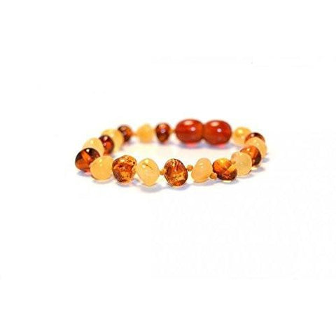 (5.5in) Certified Baltic Amber Bracelet - Honey/Butter