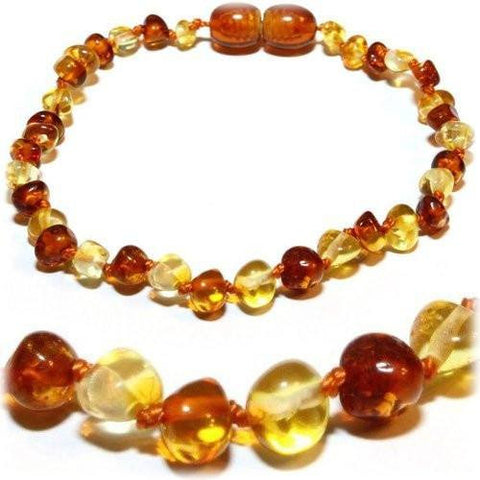 (5.5in) Certified Baltic Amber Bracelet - Honey/Lemon