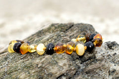 (5.5in) Certified Baltic Amber Bracelet - MultiColor -  - The Art of Cure